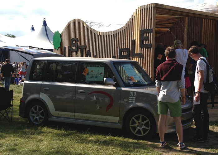 the DTU Elektro owned Ebox EV powered the backstage area at the Roskilde Festival ODEON stage (Photo: DTU Elektro)