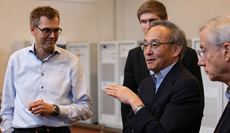Nobel Prize winner visit to PowerLabDK