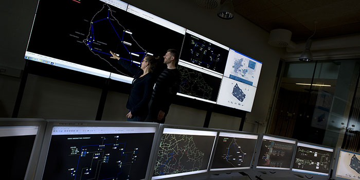 The EcoGrid project at Bornholm is monitored at Powerlab, DTU Lyngby