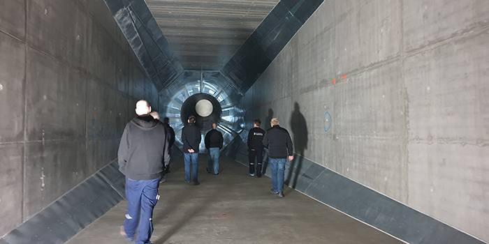 From the internal inauguration at the wind tunnel